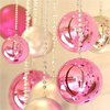 im_a_jedi: Pink and white Christmas ball ornaments (Ornaments)