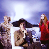 allfireburns: Eleven, River and Amy on the Byzantium. With a comfy chair. (we've got comfy chairs)