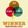 izmeina: 50,000 words,30 days 0 excuses (winnanowrimo2012)