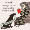 intertext: (gorey dog and book)
