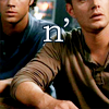 clex_monkie89: Close-cropped picture of Sam and Dean Winchester sitting far closer than normal people. (SPN - Title Card)