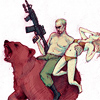 russkipidar: (on a bear with a gun and a woman)