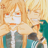 taotrooper: This is a shippy icon with two guys annoying each other (PeonyxJade / Mutual annoyance)