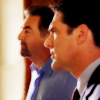 subluxate: Hotch and Rossi looking at something to the left (Criminal Minds: Hotch and Rossi looking)