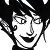 speakveryclearly: Kanaya in monochrome looking to her right with a soft, smug expression and closed lips. (Pleased)