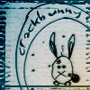 anatsuno: a drawing of a bunny on crack (my bunny elwood)