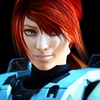 hokuton_punch: Screenshot of Carolina from Red vs. Blue with her helmet off. (rvb carolina badass)