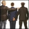 msilverstar: Hobbit movie PR photo of Ian, Martin and Andy with hand on Martin's arse (fanservice)