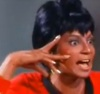 firecat: uhura making a scary hand gesture (uhura nichelle nicolls)