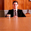 st_aurafina: Dale Cooper at the table with coffee and a donut (Twin Peaks: Dale with coffee)