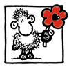 seekingeden: sheepworld sheep holding out a red flower to the viewer (fandom)