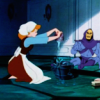 outlineofash: Disney Cinderella washes floors while Skeletor sits nearby. (Media - Great Team)