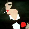 outlineofash: Illustration of a woman in a tuxedo smoking. Artwork by Rene Gruau. (Artwork - Smoking)