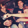 turlough: Mikey & Gerard Way & Ray Toro & Frank Iero in van, c. 2003 ((mcr) we were so young)