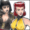 hot_tramp: silk spectre and silhouette (watchmen-silkspectresilhouette)