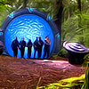 istia: sga team in front of the stargate in a forest (sga | team gate forest)