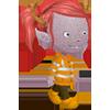 ninetydegrees: Drawing: my Glitch avatar wearing ER clothing (er glitch)