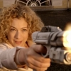 rike_tikki_tavi: River Song shoots (at the Doctor's fez out of frame) (River Song shoots)