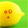 mochi: A lemon making a puckered face. (sour lemon)