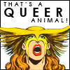 "themeletor: image of hawkgirl; text ""that's a queer animal!"" (queer animal)"