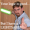 soreth: (...But I've got a lightsabre!)