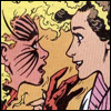 reflectedeve: Worried Rachel Summers/Phoenix, reaching out to touch a smiling, out-of-costume Kitty Pryde. (checking in - crosstime caper)