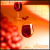 "annotated_em: wineglasses with grapes, captioned ""cheers"" (drunk)"