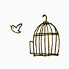 frangipani: a bird escaping its cage (higher and higher)