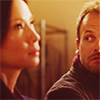 musesfool: Joan looking annoying while Sherlock gazes soulfully at her (the tender gravity of kindness)