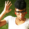 timeasmymeasure: janelle monae in large retro glasses (janelle: dork out)
