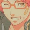 hostilecrayon: Yosuke, winking, with a band-aid on his face. (Yosuke Wink)