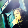 such_heights: the eighth doctor leaning against the tardis (who: eight)