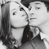 such_heights: a black and white wedding photo of amy and rory (who: amy/rory [wedding])