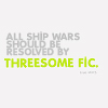 "apollymi: Blank background, text rewads ""All ship wars should be resolved by threesome fic"" (Text: More threesomes!)"