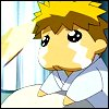 apollymi: Ginji in taro/chibi mode with teary eyes (GB**Ginji: *wibble eyes*)