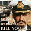 """hokuton_punch: Screenshot of Delgado-Master in Navy uniform, captioned """"I'm only saluting until I finish my plan to kill you all."""" (doctor who master kill you all)"""