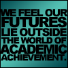 "labellementeuse: Text-only icon: ""We feel our future lies outside the world of academic achievement"" (hp fred and george leave school)"