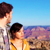 sixbeforelunch: april and andy from parks and rec at the grand canyon (parks and rec - april and andy)