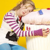 merelyn: yes, that is panda from skins hugging a giant fluffy cupcake pillow. (kate hewlett)