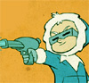 darchildre: Tiny Captain Cold shooting a water pistol (let's go shoot some zombies)