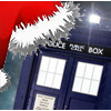 kaffyr: A Santa cap on the TARDIS (Tardis Christmas toque)