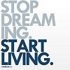 """loveglitterandsunshine: <user name=""""collapsingnight""""> (Stop dreaming. Start living.)"""