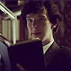 amalnahurriyeh: Sherlock: Sherlock Holmes, reading and looking surprised. (sherlock reading)