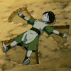 kaberett: Toph making a rock angel (toph-rockangel)
