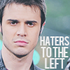 "jlh: Kris Allen; words ""haters to the left"" (music: Kris Allen)"