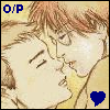 jlh: Percy and Oliver from Harry Potter, kissing (PO Marta)
