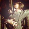 jlh: Remus Lupin and Sirius Black embrace in the shrieking shack (RS embrace like brothers)