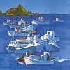 cyphomandra: boats in Auckland Harbour. Blue, blocky, cheerful (boats)