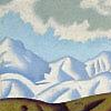 cyphomandra: fluffy snowy mountains (painting) (snowcone)