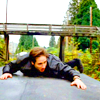 juniperphoenix: Fox Mulder on top of a moving train (XF: Mulder)